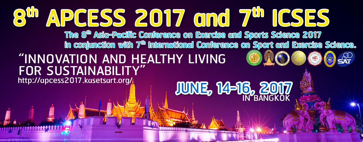 ���ԭ������Ъ��������Ԫҡ�� The 8th Asia-Pacific Conference on Exercise and Sports Science 2017